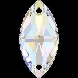 Нашивной кристалл Swarovski 3223, Crystal AB, 12*6мм