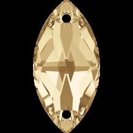 Нашивной кристалл Swarovski 3223, Golden Shadow, 18*9мм