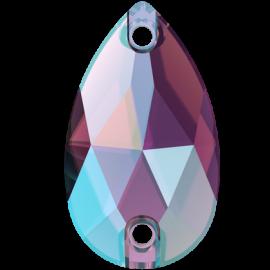 Нашивной кристалл Swarovski 3230, Amethyst Shimmer, 18*10.5мм