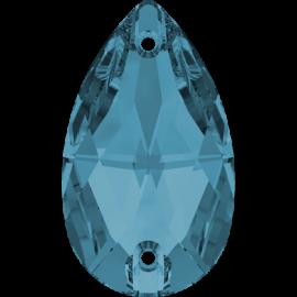 Нашивной кристалл Swarovski 3230, Aquamarine, 12*7мм