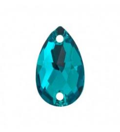 Нашивной кристалл Swarovski 3230, Blue Zircon, 12*7мм