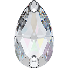 Нашивной кристалл Swarovski 3230, Crystal AB, 18*10.5мм