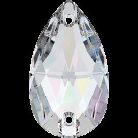Нашивной кристалл Swarovski 3230, Crystal AB, 12*7мм