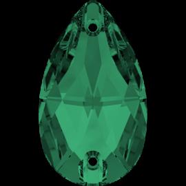 Нашивной кристалл Swarovski 3230, Emerald, 12*7мм
