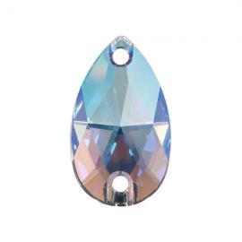 Нашивной кристалл Swarovski 3230, Light Sapphire Shimmer, 12*7мм