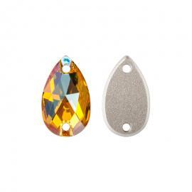 Нашивной кристалл Swarovski 3230, Light Topaz Shimmer, 12*7мм