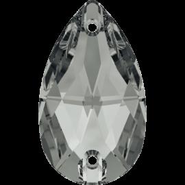 Нашивной кристалл Swarovski 3230, Silver Night, 12*7мм