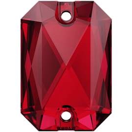 Нашивной кристалл Swarovski 3252, Scarlet, 20*14мм