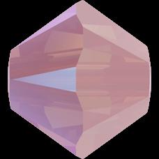 Бусина Swarovski 5328, Rose Water Opal Shimmer, 4мм