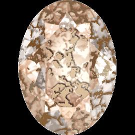 Кристалл в оправу Swarovski 4120, Crystal Rose Patina, 14*10мм
