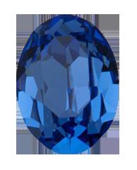 Кристалл в оправу Swarovski 4128, Sapphire, 6*4мм
