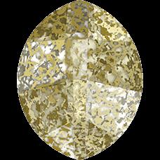 Кристалл в оправу Swarovski 4224, Gold Patina, 10*8мм