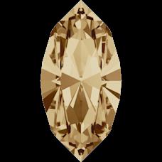 Кристалл в оправу Swarovski 4228, Golden Shadow, 15*7мм