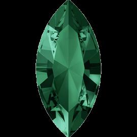 Кристалл в оправу Swarovski 4228, Emerald, 10*5мм