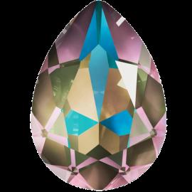 Кристалл в оправу Swarovski 4320, Crystal Army Green Delite, 14*10мм