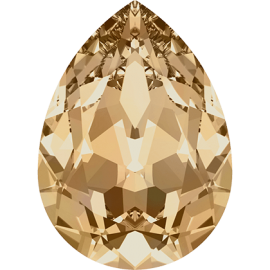 Кристалл в оправу Swarovski 4320, Crystal Golden Shadow, 10*7мм