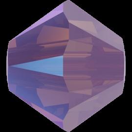 Бусина Swarovski 5328, Cyclamen Opal Shimmer, 4мм