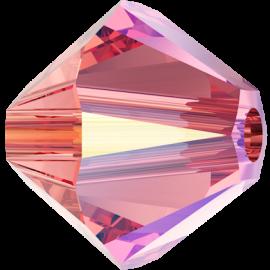 Бусина Swarovski 5328, Rose Peach Shimmer, 4мм
