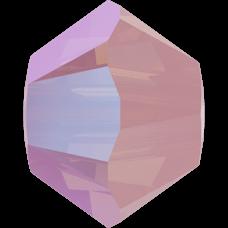 Бусина Swarovski 5328, Rose Water Opal Shimmer, 3мм