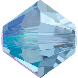 Бусина Swarovski 5328, Light Sapphire Shimmer, 4мм