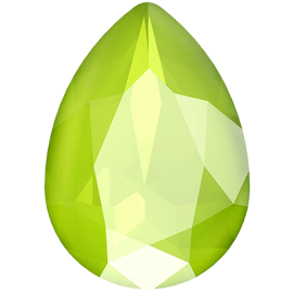 Кристалл в оправу Swarovski 4320, Crystal Lime, 14*10мм