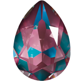 Кристалл в оправу Swarovski 4320, Crystal Burgundy Delite, 14*10мм