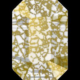 Бусина Swarovski 5514, Gold Patina, 10*7мм