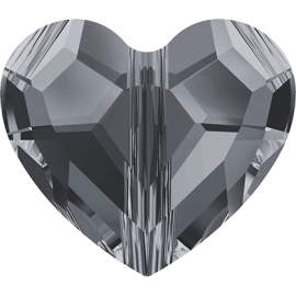 Бусина Swarovski 5741, Crystal Silver Night 2x, 8мм