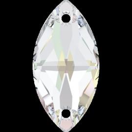 Нашивной кристалл Swarovski 3223, Crystal AB, 18*9мм