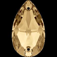 Нашивной кристалл Swarovski 3230, Golden Shadow, 12*7мм
