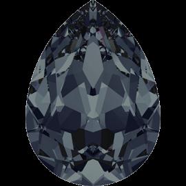 Кристалл в оправу Swarovski 4320, Graphite, 14*10мм