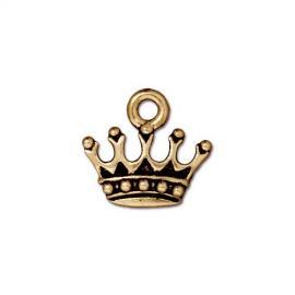 Подвеска корона, позолоченная, 15*14мм