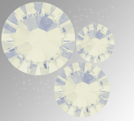 """Микс """"White Opal"""" (ss5,ss7,ss9) 30шт"""